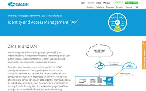 Identity and Access Management (IAM) Partners   Zscaler