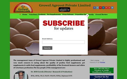 Screenshot of About Page growelagrovet.com - About Us – Growel Agrovet - captured Dec. 16, 2018