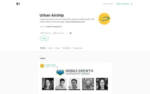 Urban Airship – Medium