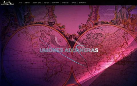 Screenshot of Home Page unionesaduaneras.com.ar - UNIONES ADUANERAS - captured Sept. 30, 2014