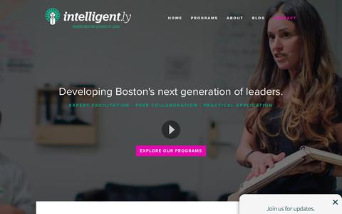 Screenshot of Contact Page intelligent.ly - Intelligent.ly — Contact - captured Nov. 9, 2017