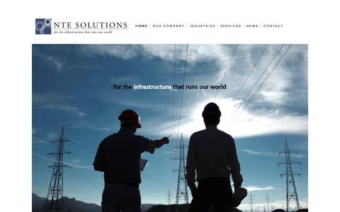 Screenshot of Home Page ntesolutions.com - NTE Solutions - captured Aug. 17, 2015