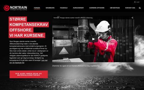 Screenshot of Home Page nortrain.no - Nortrain | Norwegian Drilling Academy - captured Aug. 17, 2015