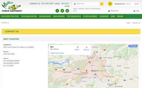 Screenshot of Contact Page muttonpower.com - Mutton Power Equipment - Contact Us - captured Dec. 9, 2016