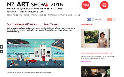 Screenshot of Press Page artshow.co.nz - NZ Art Show news -  - NZ Art Show - captured Feb. 16, 2016