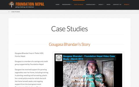 Screenshot of Case Studies Page foundation-nepal.org - Case Study - Jasulli's Story - Foundation Nepal - captured Oct. 29, 2014