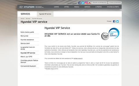Hyundai VIP Service - Hyundai Motor France