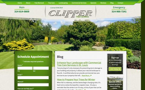 Screenshot of Blog clippertreeservice.com - Blog - Clipper Tree Service - captured Nov. 2, 2014