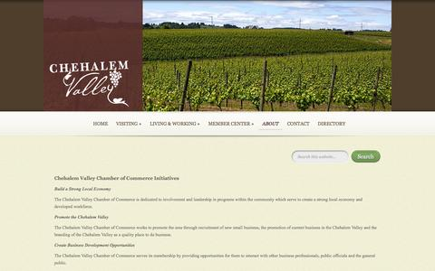 Screenshot of About Page chehalemvalley.org - ABOUT - Chehalem Valley Chamber of Commerce & Visitors Center | Chehalem Valley Chamber of Commerce & Visitors Center - captured Oct. 1, 2014