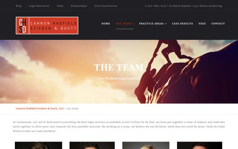Screenshot of Team Page cannonlaw.com - The Team of Personal Injury Attorneys | Fort Collins | Cannon Hadfield Stieben LLC - captured Sept. 26, 2018