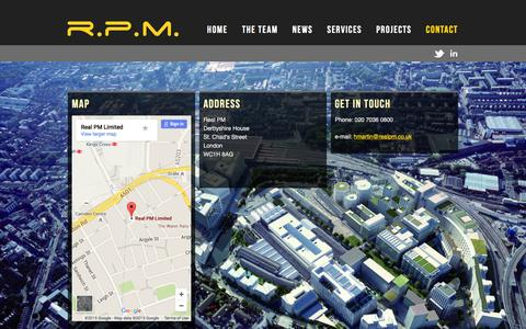 Screenshot of Contact Page realpm.co.uk - Contact   RPM - captured Dec. 1, 2015