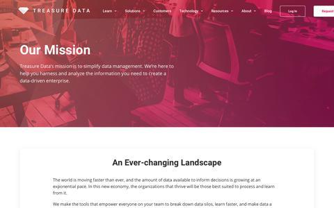 Screenshot of About Page treasuredata.com - Company - Treasure Data - captured April 24, 2018