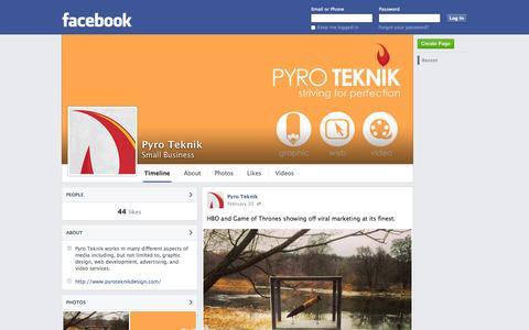 Screenshot of Facebook Page facebook.com - Pyro Teknik | Facebook - captured Oct. 23, 2014