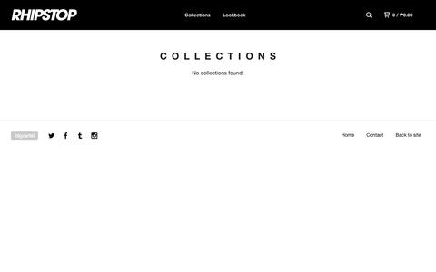 Screenshot of Products Page bigcartel.com - RHIPSTOP | Since Day One — Collections - captured Oct. 19, 2018