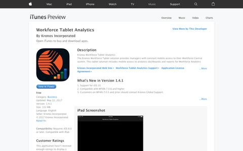 Workforce Tablet Analytics on the App Store