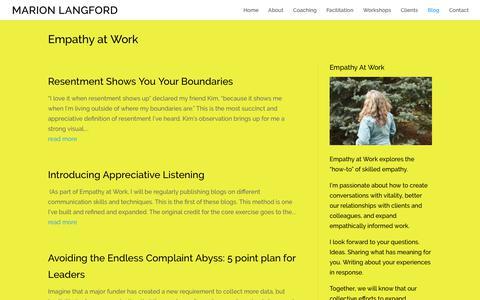 Screenshot of Blog marionlangford.com - Blog | Marion Langford - captured Sept. 9, 2017