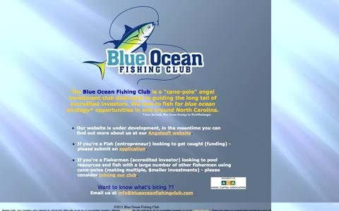 Screenshot of Home Page blueoceanfishingclub.com - index - captured Sept. 30, 2014
