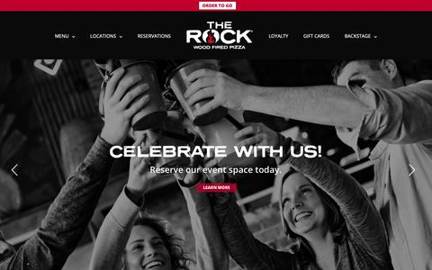 Screenshot of Home Page therockwfp.com - HOME | The Rock Wood Fired Pizza - captured Dec. 20, 2018