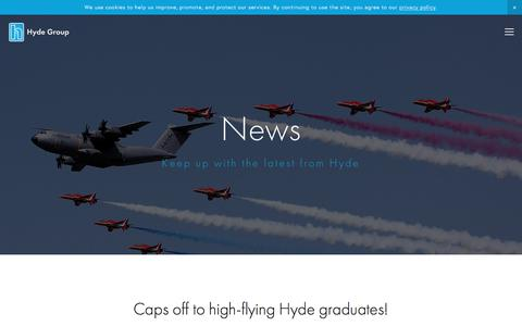 Screenshot of Press Page hydegroup.com - News — Hyde Group - captured Sept. 20, 2017