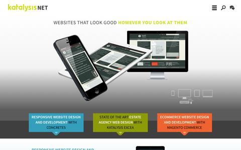 Screenshot of Home Page katalysis.net - Website Designers | UK Concrete5 Specialists | Websites for Estate Agents - captured Oct. 6, 2014