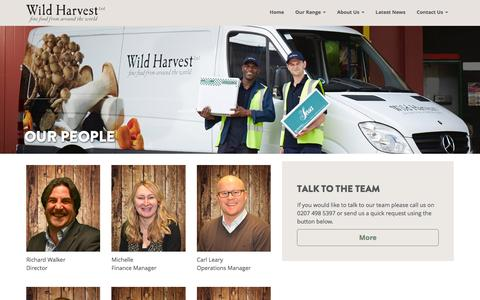 Screenshot of Team Page wildharvestuk.com - Our People - Wild Harvest - captured Nov. 30, 2016