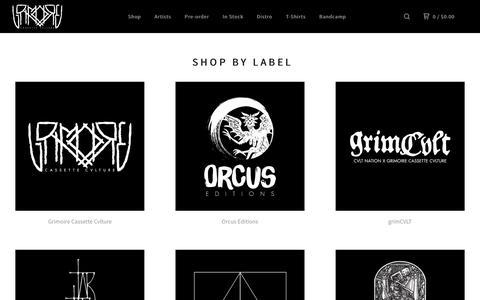Screenshot of Products Page shopgrimoire.com - Grimoire Cassette Cvlture — Collections - captured Feb. 2, 2016