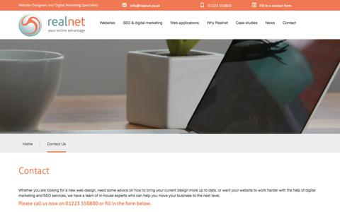 Screenshot of Contact Page realnet.co.uk - Contact Details | Realnet Ltd Cambridge - captured Oct. 26, 2017