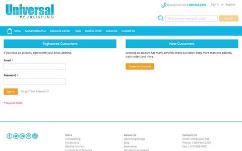 Screenshot of Login Page upub.net - Customer Login - captured Oct. 19, 2017