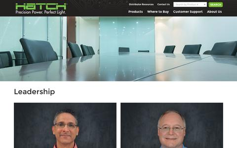 Screenshot of Team Page hatchlighting.com - Leadership – Hatch Lighting - captured July 12, 2016