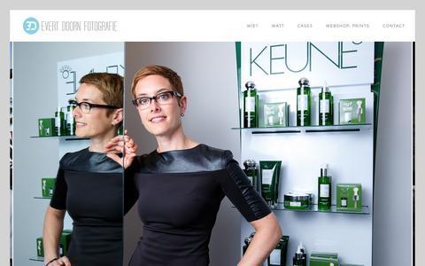 Screenshot of Home Page evertdoorn.nl - Portretfotografie   Profielfoto's   Reportages   Promoties   fotografie op locatie - captured Jan. 31, 2016