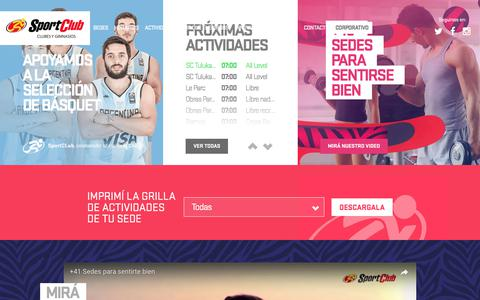 Screenshot of Home Page sportclub.com.ar - SportClub - Clubes y Gimnasios - captured June 23, 2017