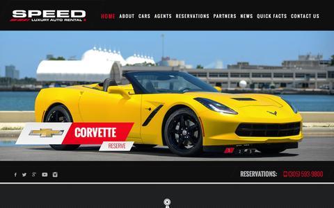 Screenshot of Home Page speedautorental.com - Speed Luxury Auto Rental | Speed Luxury Auto Rental - captured Jan. 11, 2016