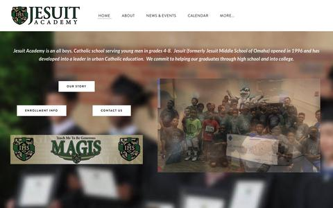Screenshot of Home Page jesuitacademy.org - Jesuit Academy - Omaha, NE - Jesuit Academy - Omaha, NE - captured Sept. 20, 2018