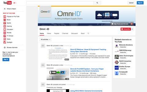 Screenshot of YouTube Page youtube.com - Omni -ID  - YouTube - captured Oct. 26, 2014