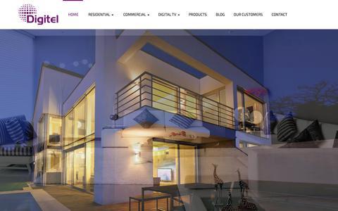 Screenshot of Home Page digitel.ie - Digitel » Smart Home » Home Cinema » Commercial AV - captured Aug. 2, 2016