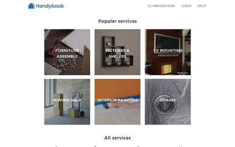 Screenshot of Services Page handybook.com - Handybook | Home cleaning. Ikea assembly. Instant booking of Trusted and verified service professionals. - captured July 19, 2014