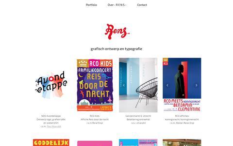 Screenshot of Home Page go-rens.nl - - R E N S - grafisch ontwerp en typografie - captured Oct. 25, 2017