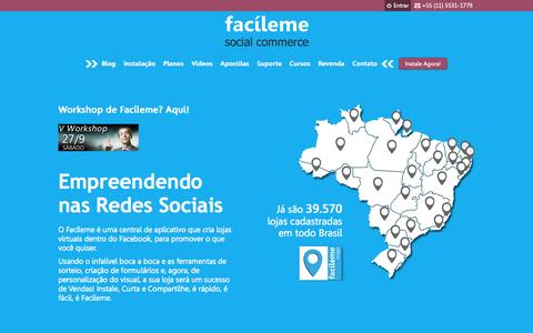 Screenshot of Home Page facileme.com.br - Facíleme Social Commerce | Central de Aplicativos para Social Commerce - captured Sept. 23, 2014