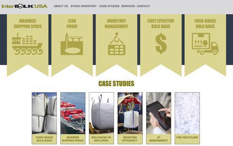 Screenshot of Case Studies Page inter-bulk.com - Packaging Solutions | Inter-Bulk USA - captured Sept. 25, 2018