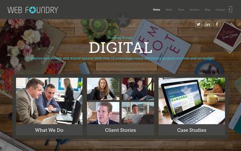 Screenshot of Home Page web-foundry.co.uk - Web Foundry | web design and digital agency | Edinburgh - captured Jan. 12, 2016