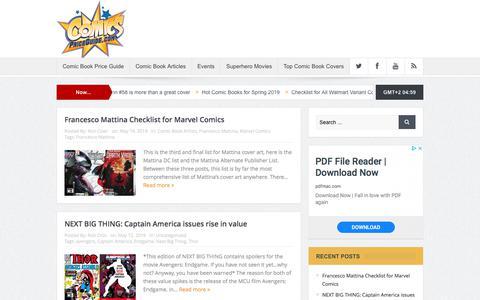 Screenshot of Blog comicspriceguide.com - ComicsPriceGuide   #1 Free Online Comic Book Price guide - captured Aug. 19, 2019