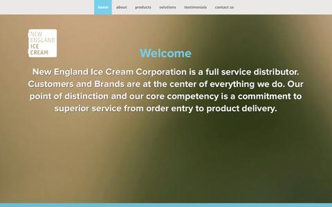 Screenshot of Testimonials Page newenglandicecream.com - New England Ice Cream Corporation - captured Oct. 28, 2014