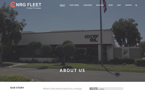 Screenshot of About Page cnrgfleet.com - AboutC NRG Fleet- Fuel Card Company - captured Feb. 1, 2016
