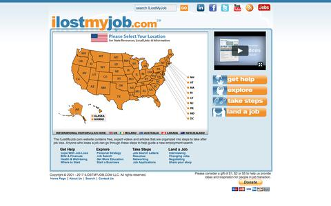 Screenshot of Maps & Directions Page ilostmyjob.com - ilostmyjob.com | What to Do After Job Loss or Lay Off - captured Oct. 16, 2017