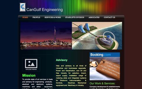 Screenshot of Home Page cangulf.com - CanGulf Engineering - Home - captured Oct. 1, 2014