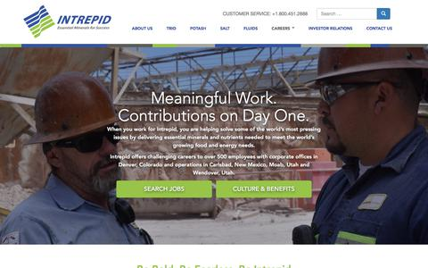 Screenshot of Jobs Page intrepidpotash.com - Careers - Intrepid Potash - captured Sept. 19, 2018
