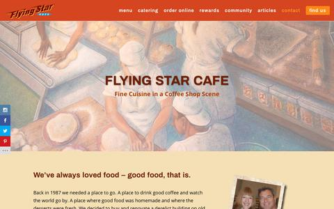 Screenshot of About Page flyingstarcafe.com - About - Flying Star Cafe - captured Aug. 18, 2018