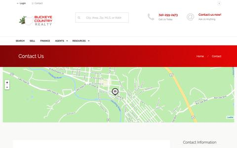 Screenshot of Contact Page buckeyecountryrealty.com - Contact Us - captured Nov. 6, 2018