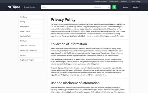Flippa: Privacy Policy | Flippa