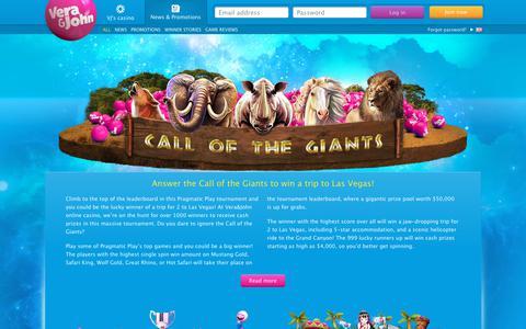 Screenshot of Press Page verajohn.com - Vera&John - The fun online casino - captured March 10, 2019